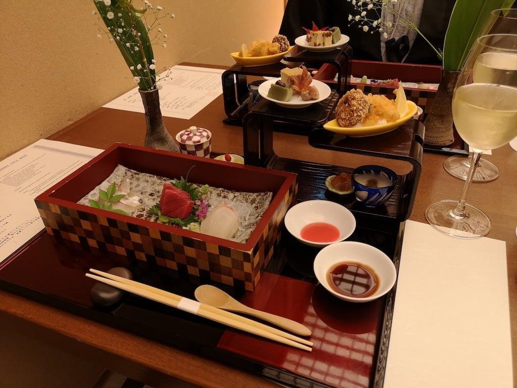 Kaiseki middag i Japan